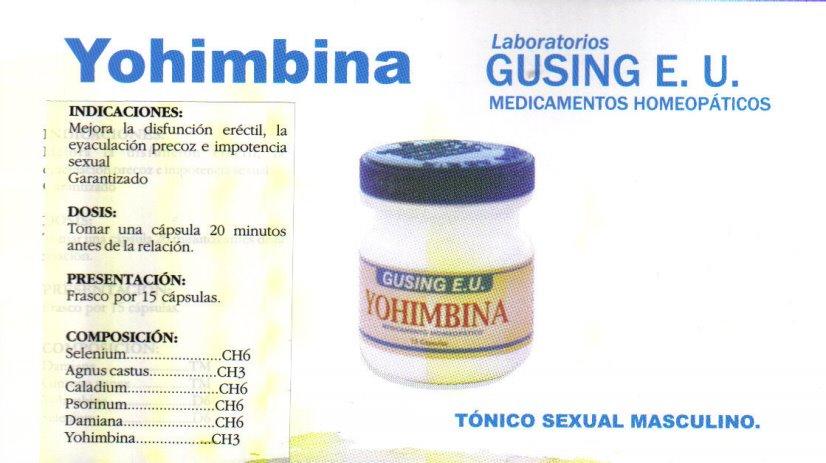 Yohimbina: perder grasa y ganar apetito sexual