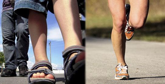 ¿Caminar o correr?
