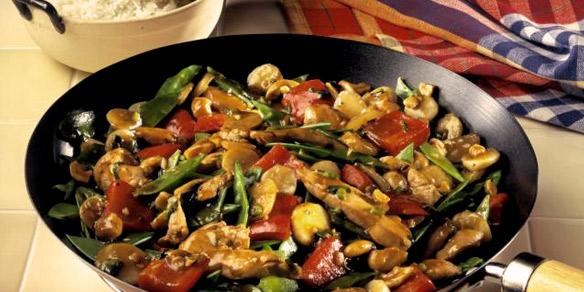 como hacer vegetales al wok