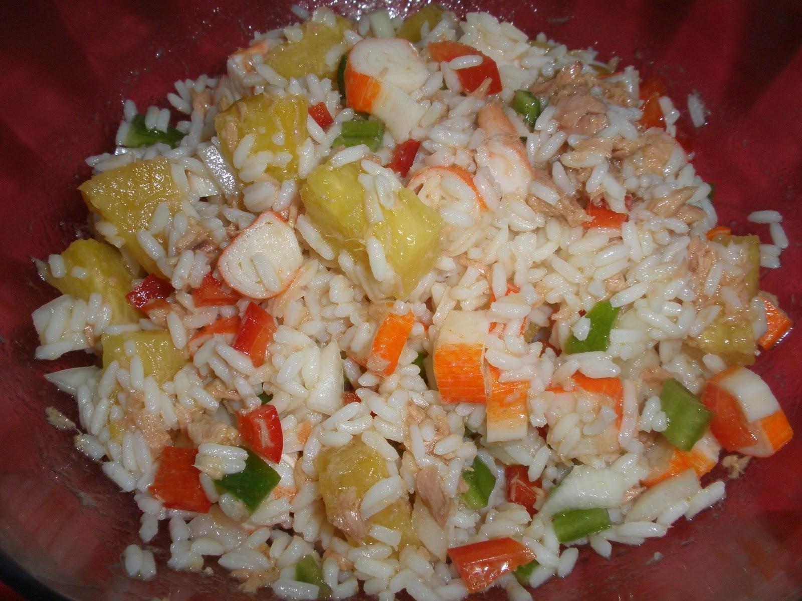 Ensaladas de arroz con at n nutritivas para el entrenamiento - Ensalada de arroz con atun ...