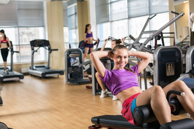 Aparato para realizar abdominales for Aparatos de gym
