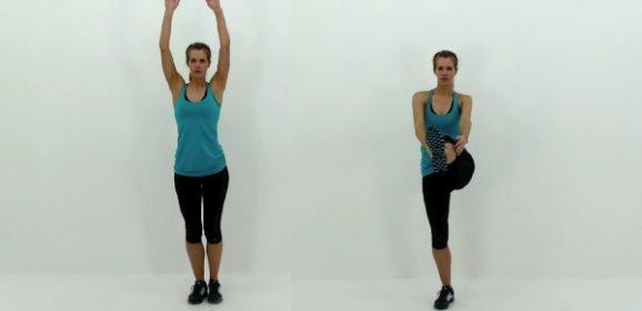 Ejercicios abdominales de pie