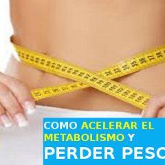 Suplementos para acelerar el metabolismo (naturales)