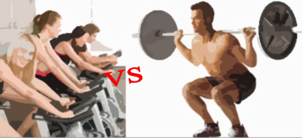 spinning vs sentadillas