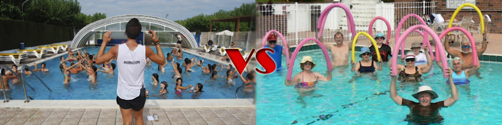 Aquagym vs Aquafitness