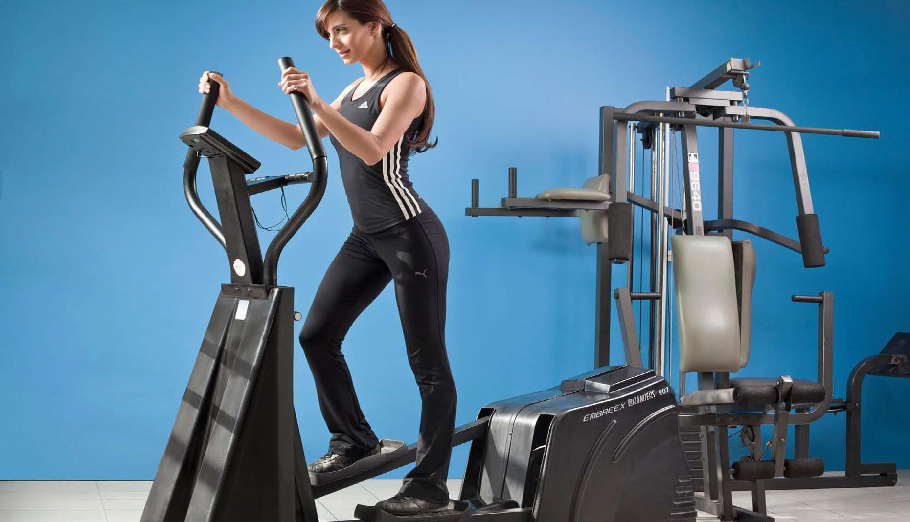 Rutina de aeróbicos en elíptica para perder peso