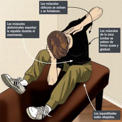 Cómo realizar los estiramientos en espalda