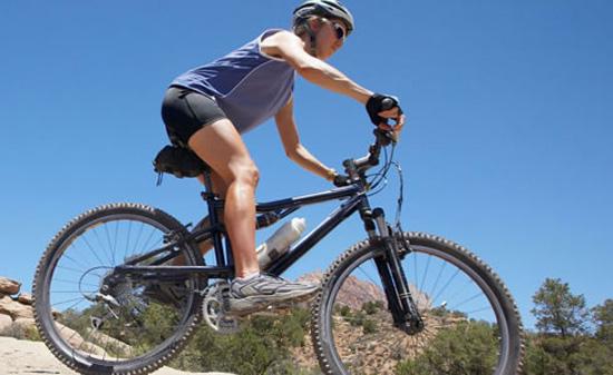 Entrenamiento bicicleta de montaña