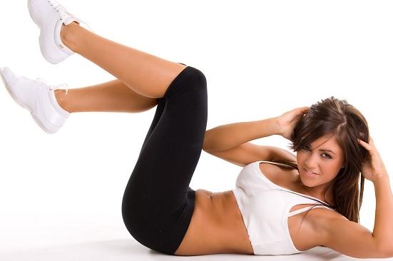 Tabla de ejercicios para abdominales, glúteos y piernas