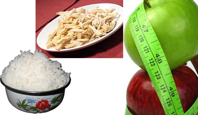 Dieta del arroz y manzana