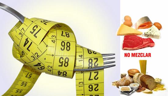 Ejemplos de menú dieta disociada