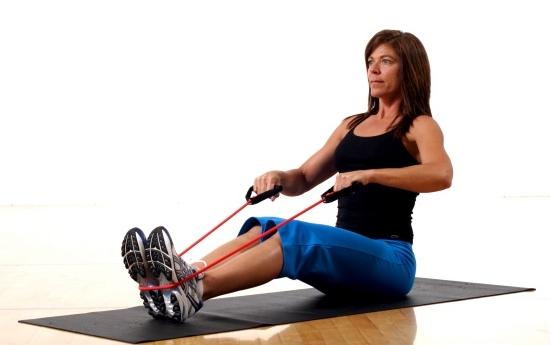 Ejercicios con bandas elásticas fitness