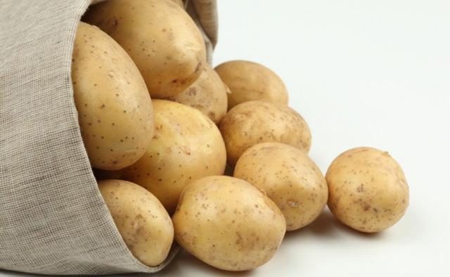 No cocida la engorda patata