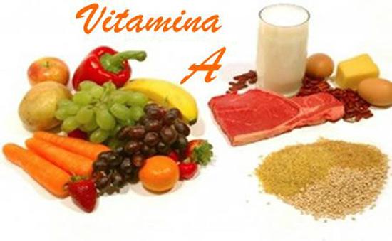 Vitamina A, alimentos que la contienen