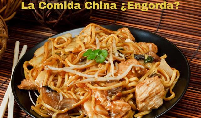 La comida china engorda