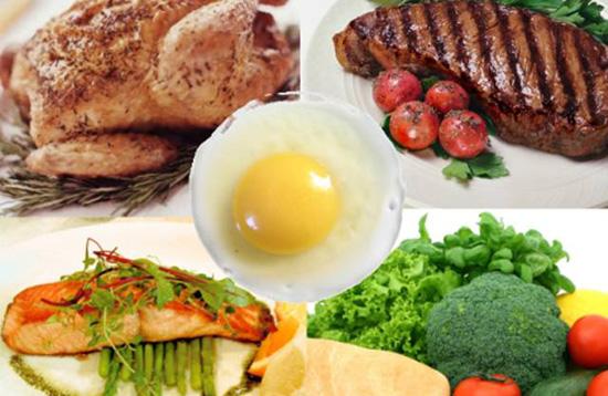 Lista de alimentos con proteínas