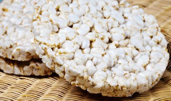 Tortas de arroz: propiedades