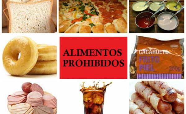 Alimentos prohibidos para adelgazar