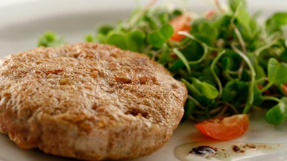 Deliciosa hamburguesa de pollo casera