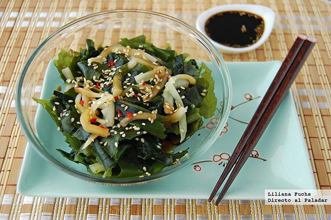 Ensalada de algas con pepino, receta deliciosa