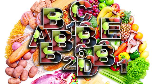 Tabla de vitaminas y alimentos