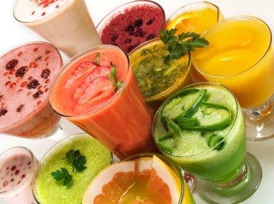 5 batidos de verduras y frutas