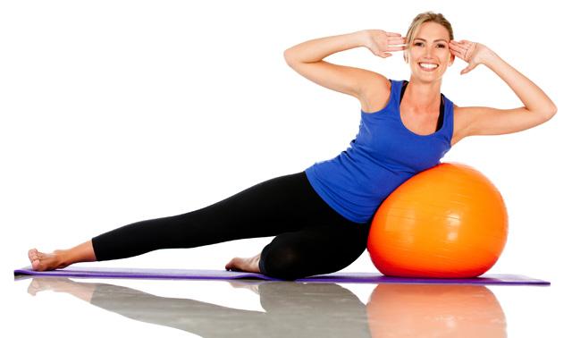 Clase de Pilates en casa