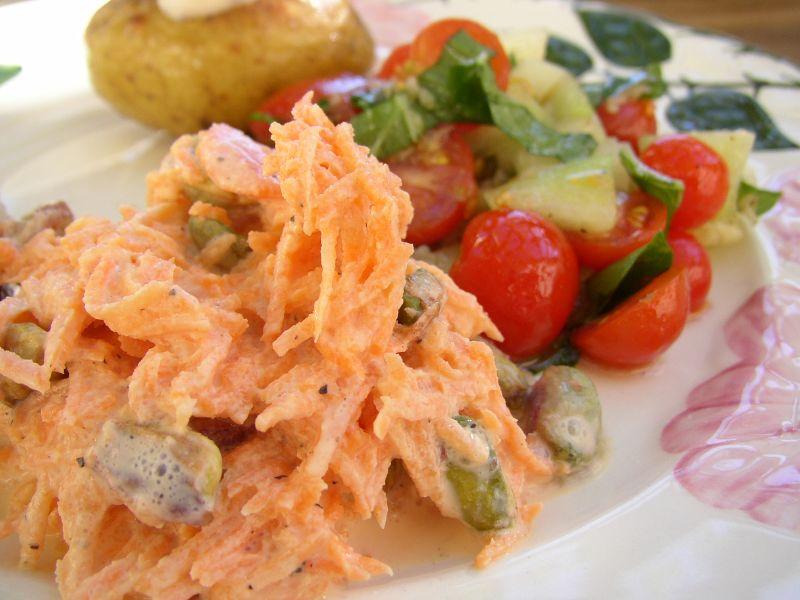 Deliciosas ensaladas de zanahoria