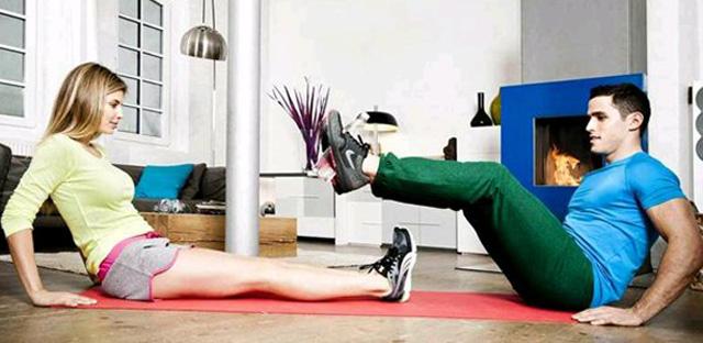 Ejercicios fitness en casa