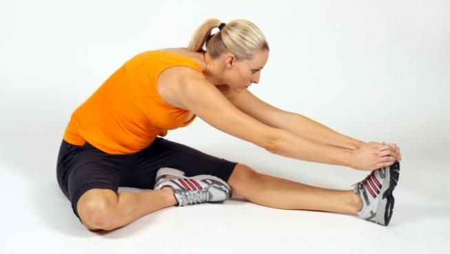Estiramientos de piernas después de correr