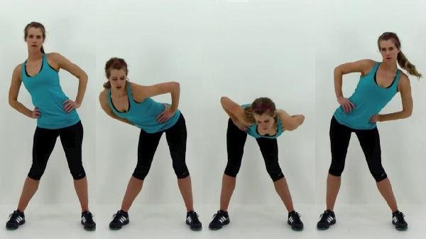 Hacer abdominales de pie