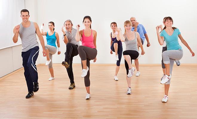 Importa la velocidad de la música aerobic