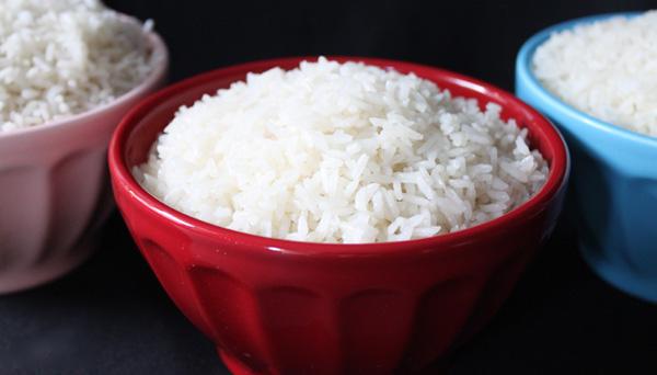 Las calorías arroz blanco