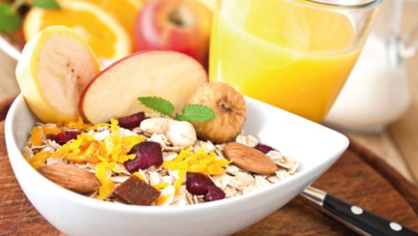 Opciones en desayuno dieta