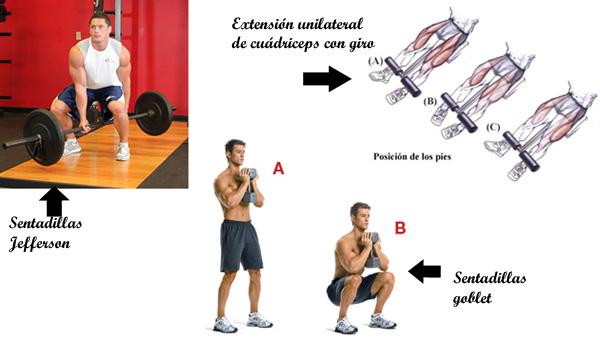 3 ejercicios para cuádriceps