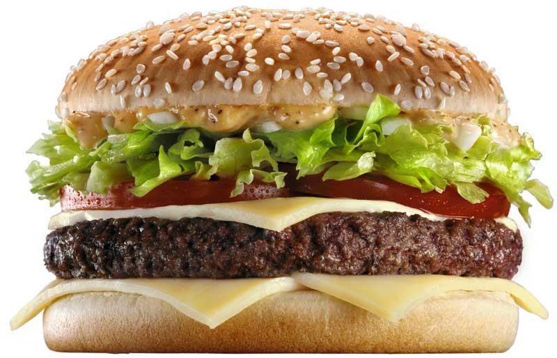 Calorías de la hamburguesa.