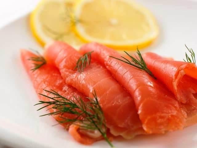 Calorías salmón ahumado.
