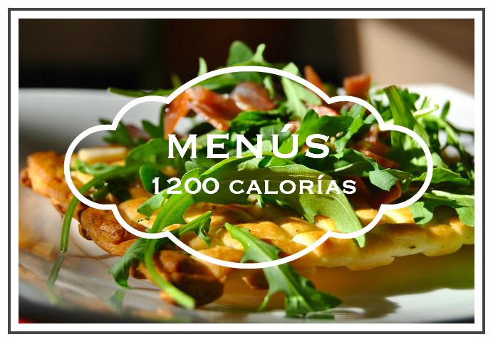 Calorias 1200 menu de semanal