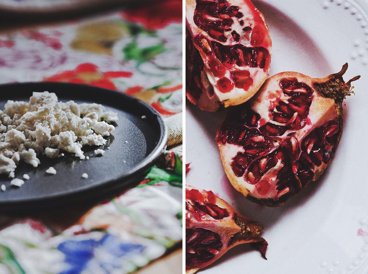 Ensalada de granada y vinagreta de perejil