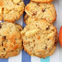 Receta de galletas de manzana y nueces