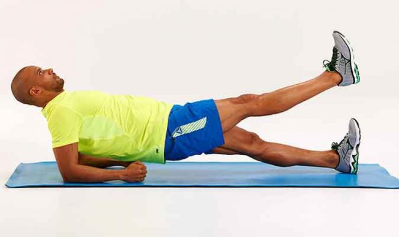 Plancha inversa, ejercicio para fortalecer el abdomen