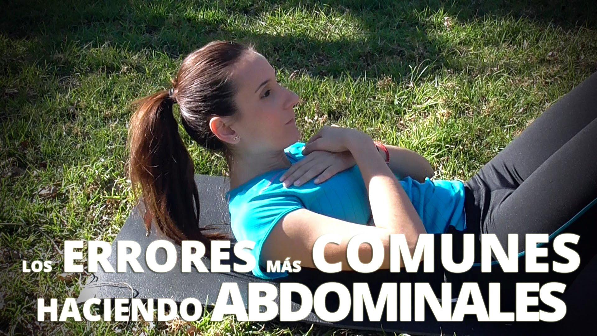 errores basicos al hacer abdominales