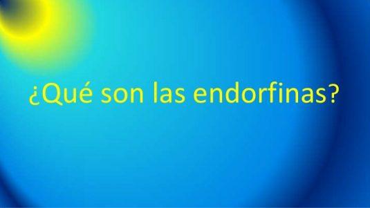que son las endorfinas