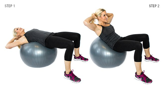 Crunch con Fitball