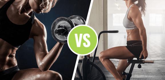 ¿Cardio o Entrenamiento con pesas para adelgazar?