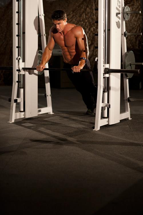 Flexión de brazos mediana con inclinación
