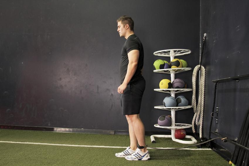 Flexión de cadera con banda